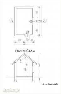 Zgłoszenie budowy budynku gospodarczego - przykładowy rysunek