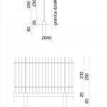 Rysunek ogrodzenia do zgłoszenia budowy