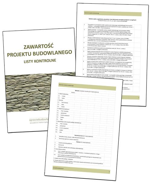 Z czego składa się projekt budowlany - checklisty