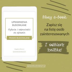 E-book z odpowiedziami na pytania z egzaminu na uprawnienia budowlane