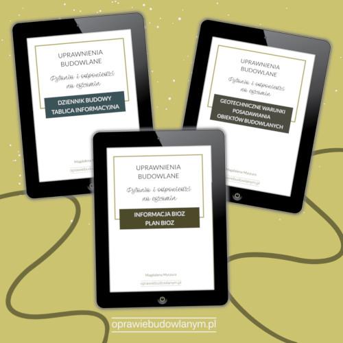 Pakiet e-booków z odpowiedziami na pytania z egzaminów na uprawnienia budowlane