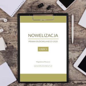 nowelizacja prawa budowlanego 2020 e-book
